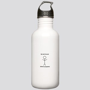 Funny Self-Portrait Stainless Water Bottle 1.0L