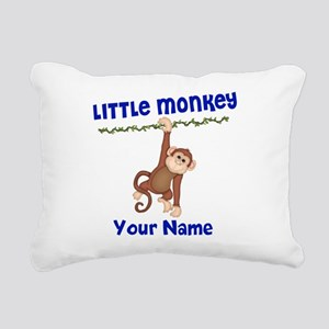 Monkey Boy Kids Personalized Rectangular Canvas Pi
