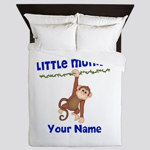 Monkey Boy Kids Personalized Queen Duvet