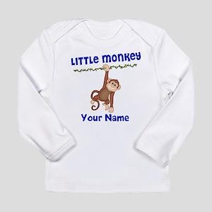 Monkey Boy Kids Personalized Long Sleeve Infant T-