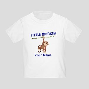 Monkey Boy Kids Personalized Toddler T-Shirt