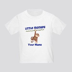 a79a417a Monkey Boy Kids Personalized Toddler T-Shirt