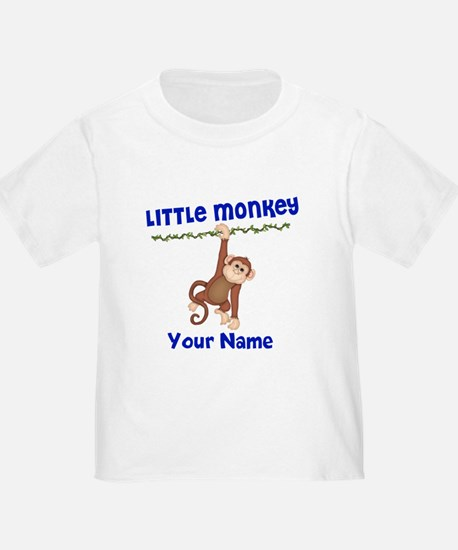 Monkey Boy Kids Personalized T
