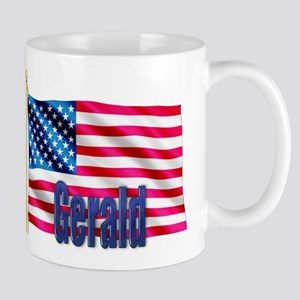 Gerald Personalized USA Flag Mug