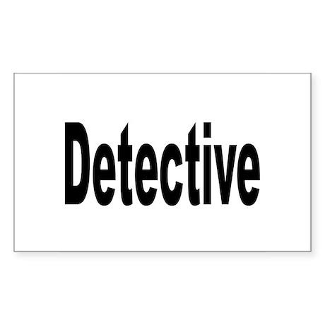 Detective Rectangle Sticker