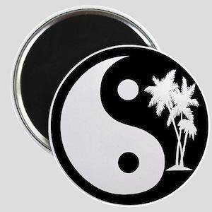 Palm Trees Yin Yang Magnet