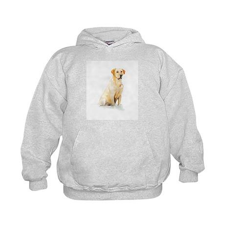 Labrador Retriever & Snowflakes Kids Hoodie