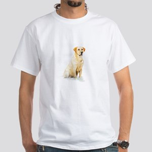Labrador Retriever & Snowflakes White T-Shirt