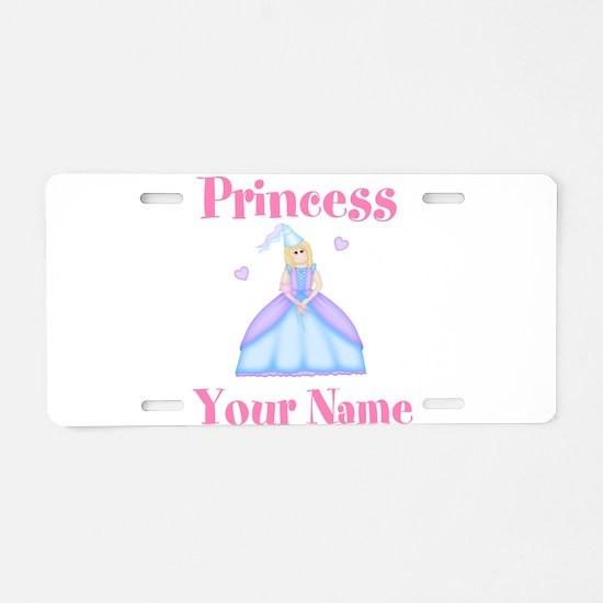 Blond Princess Personalized Aluminum License Plate
