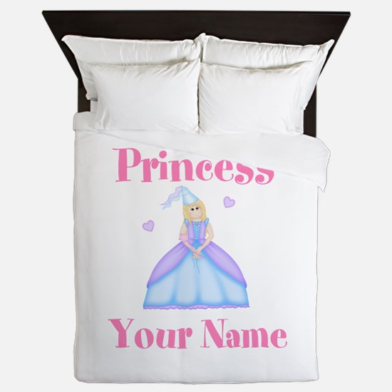 Blond Princess Personalized Queen Duvet