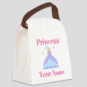 Blond Princess Personalized Canvas Lunch Bag