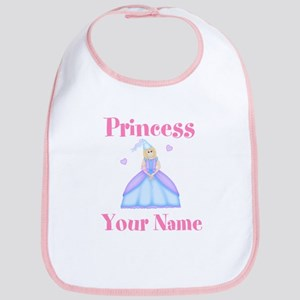 Blond Princess Personalized Bib