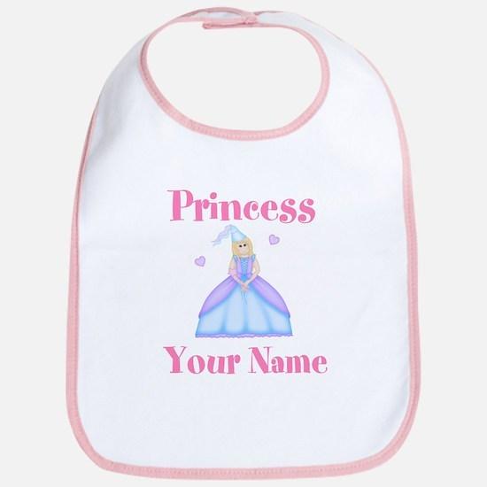 Blond Princess Personalized Bib