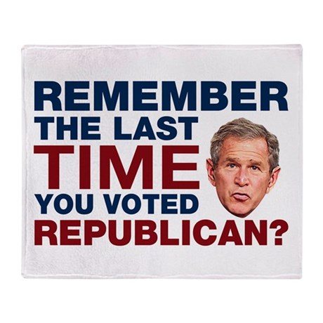 The Last Time You Voted Republican Throw Blanket