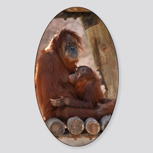 Orang Mother & Child 7373 Sticker (Oval)