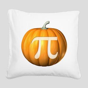 Pumpkin Pi Square Canvas Pillow