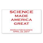 Science Made America Gre Sticker (Rectangle 50 pk)