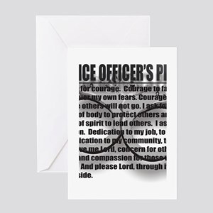 A POLICE OFFICERS PRAYER Greeting Card