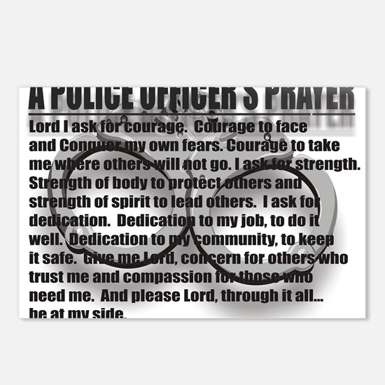 A POLICE OFFICERS PRAYER Postcards (Package of 8)