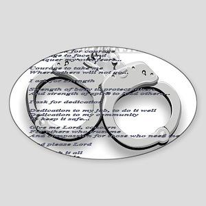 prayer2 Sticker (Oval)