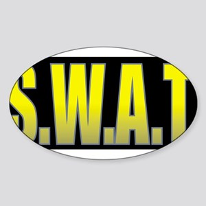 SWAT/BLACK Sticker (Oval)