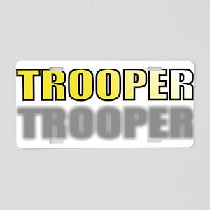 TROOPERYELLOWTRANSSHADOW Aluminum License Plat