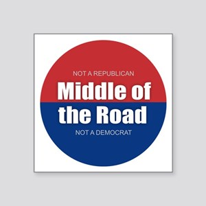 Middle of the Road Sticker