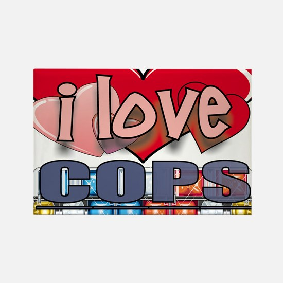 I LOVE COPS Rectangle Magnet