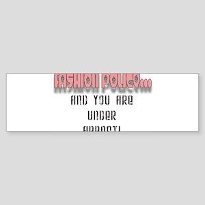 FASHION POLICE Sticker (Bumper)