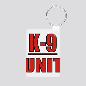 K-9UNITLOGO8 Aluminum Photo Keychain