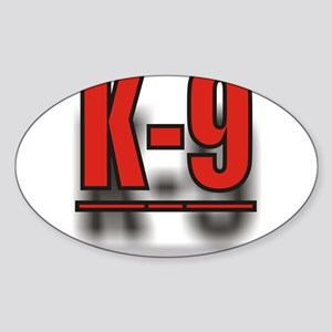 K-9UNITLOGO1 Sticker (Oval)