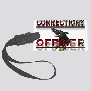 CORRECTIONS OFFICER Large Luggage Tag