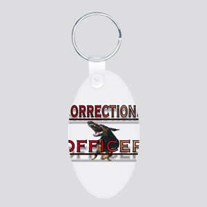 CORRECTIONS OFFICER Aluminum Oval Keychain