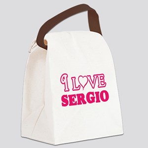 I Love Sergio Canvas Lunch Bag