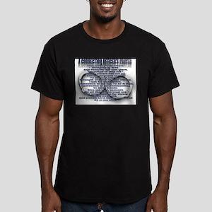 C.O. PRAYER Men's Fitted T-Shirt (dark)