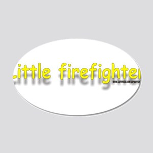 littlefirefighterblue.jpg 20x12 Oval Wall Decal
