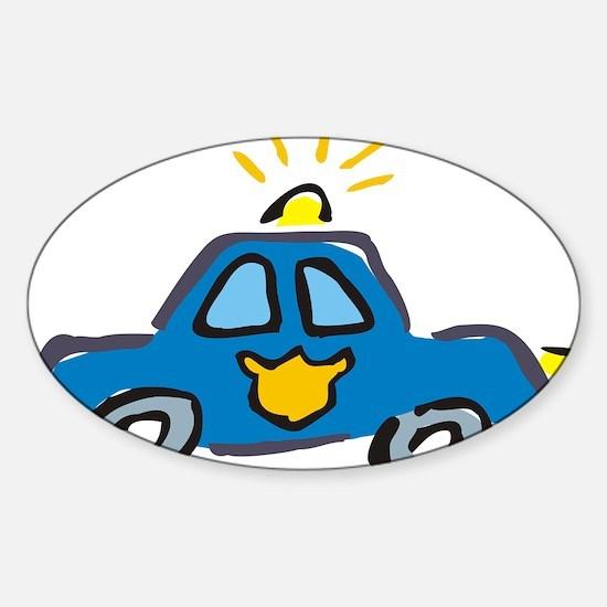 LITTLECAR1.jpg Sticker (Oval)