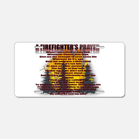 FIRE2.jpg Aluminum License Plate
