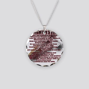 FIRE3 Necklace Circle Charm