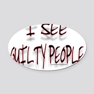 XXGUILTY Oval Car Magnet