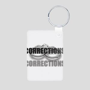 CUFFSCORRECTIONS Aluminum Photo Keychain