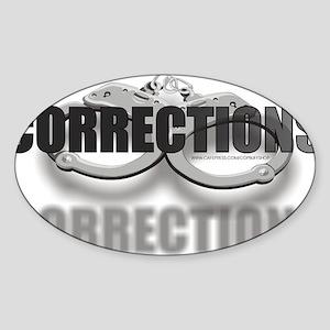 CUFFSCORRECTIONS Sticker (Oval)