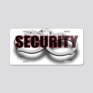 SECURITY. FRONT/BACK Aluminum License Plate