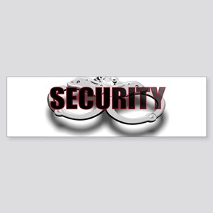 SECURITY. FRONT/BACK Sticker (Bumper)