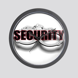 SECURITY. FRONT/BACK Wall Clock