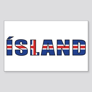 Iceland Rectangle Sticker