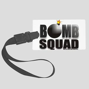 BOMBSQUADBLACKBOMB Large Luggage Tag