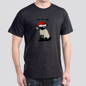 Siamese Santa Claws Dark T-Shirt