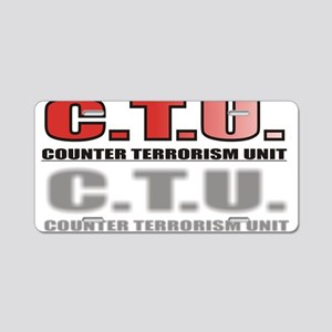 CTU3 Aluminum License Plate