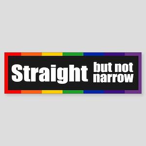 STRAIGHT BUT NOT NARROW Bumper Sticker